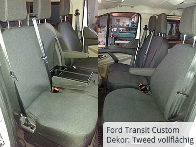 Tweed 2015 vollfächig im Ford Transit Custom