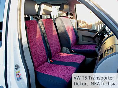 VW T5 Transporter Sitzbezüge Vordergarnitur