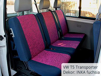 VW T5 Transporter Sitzbezüge 1. Sitzreihe