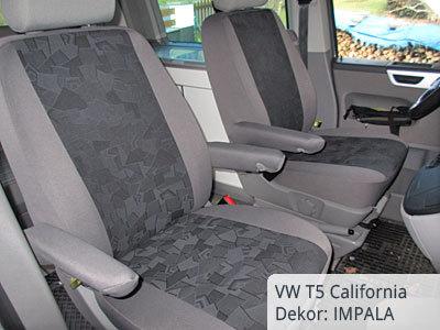VW T5 California Sitzbezüge Vordergarnitur