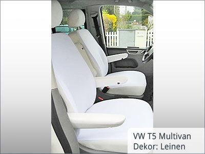 VW T5 Multivan Sitzbezüge Vordergarnitur von vorne
