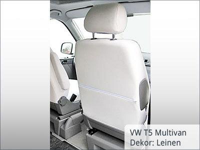 VW T5 Multivan Sitzbezüge Vordergarnitur von hinten