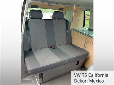 VW T5 California Sitzbezüge Hintergarnitur