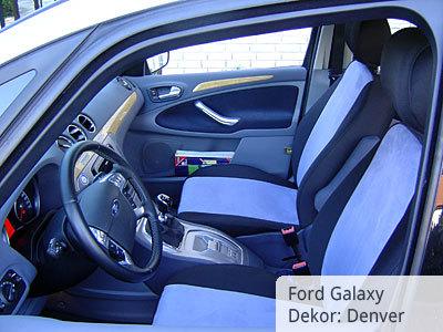 Ford Galaxy 2008 Sitzbezüge Vordergarnitur von vorne