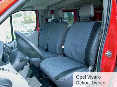 Opel Vivaro / Tweed mit Kunstlederverstärkung