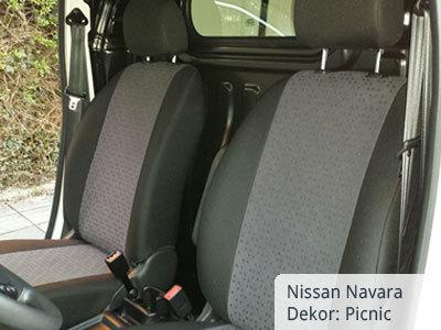Nissan NV 200 Vordergarnitur - Sitzbezüge PICNIC