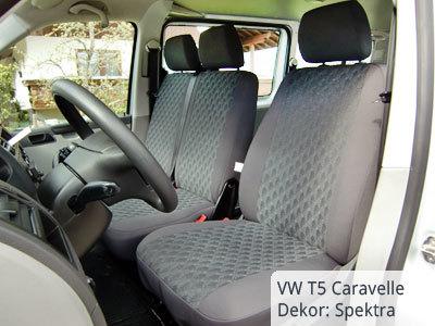 VW T5 Transporter Sitzbezüge von vorne