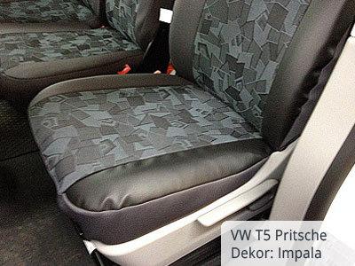 VW T5 Doppelkabiner Sitzbezug Fahrersitz