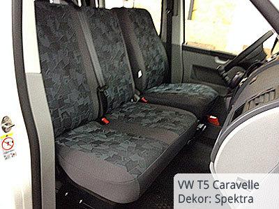VW T5 Doppelkabiner Sitzbezüge Vordersitze