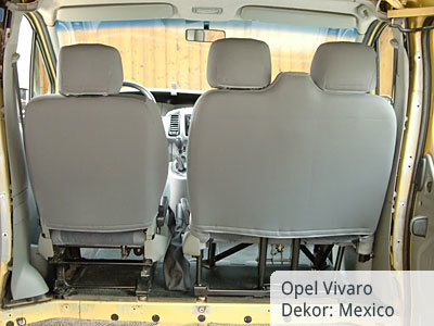 Opel Vivaro Sitzbezüge kunstlederverstärkt von hinten