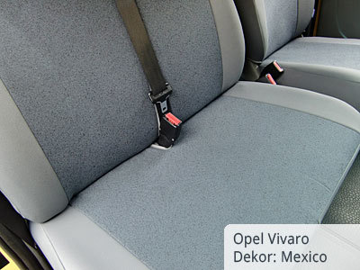 Opel Vivaro Sitzbezüge Detailansicht Beifahrerseite